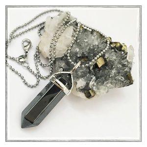 Hematite Healing Crystal Necklace